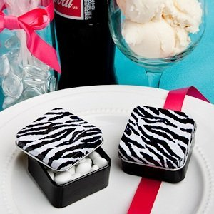 Zebra Stripe Party Favor Tins image