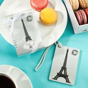 Eiffel Tower Luggage Tag Favors image