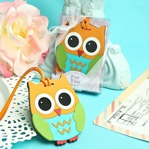 Cute and Practical Owl Luggage Tag Favors image