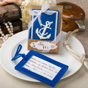 Nautical Themed Anchor Luggage Tag Favors image