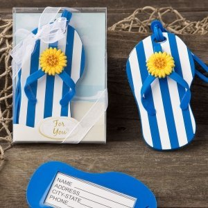 Beach Themed Flip Flop Luggage Tags image
