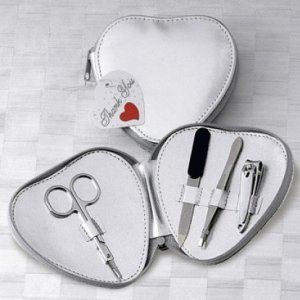 Manicure Set in Silver Heart-Shaped Case image