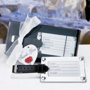 Chrome Luggage Tag in Deluxe Gift Box image