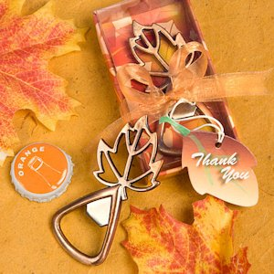 Autumn Magic Leaf Design Bottle Openers image