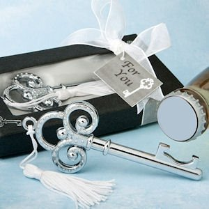 Victorian Key-Shaped Bottle Opener Wedding Favors image