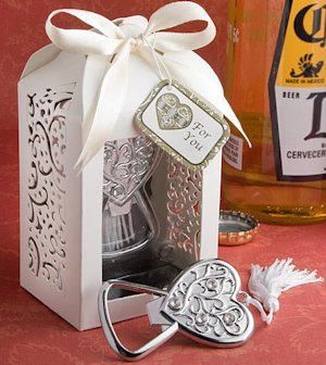 Heart Wedding Favor Bottle Opener image