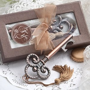 Vintage Wedding Favors - Skeleton Key Bottle Openers image