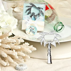 Beach Palm Tree Bottle Opener Favors image