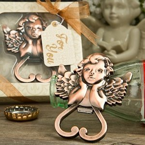 Cherub Heart Shaped Bottle Opener Wedding Favor image