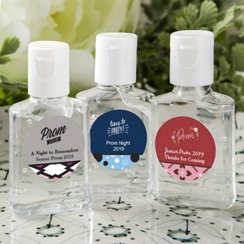 Personalized Prom Design Hand Sanitizer Favors image