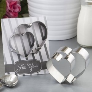 Double Heart Design Cookie Cutter Favors image