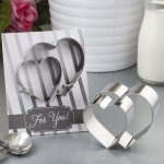Double Heart Design Cookie Cutter Favors