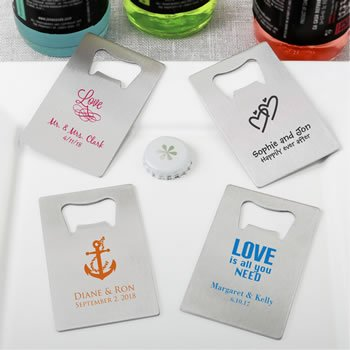 Design Your Own Personalized Credit Card Steel Bottle Opener image