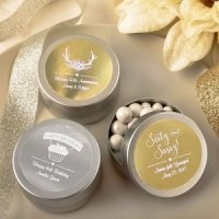 Personalized Celebrations Metallics Silver Metal Mint Tins