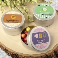 Personalized Occasions Expressions Brushed Silver Mint Tins