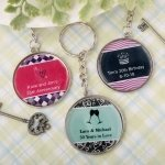 Personalized Occasions Epoxy Dome Metal Key Chain Favors
