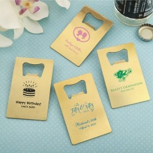 Personalized Occasions Gold Stainless Steel Credit Card Bott image