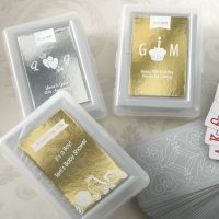 Personalized Designer Metallics Celebrations Playing Card Fa