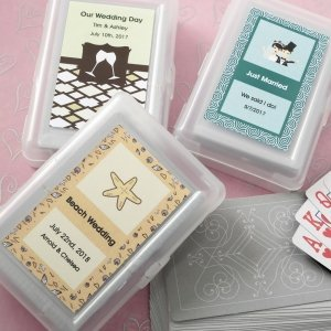 Personalized Designer Expressions Playing Cards Wedding Favo image