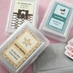 Personalized Designer Expressions Playing Cards Wedding Favo