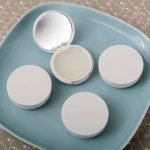 Perfectly Plain Collection Vanilla Scented Lip Balm and Mirr