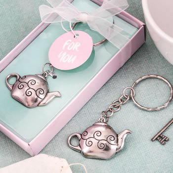 Little Teapot Bridal Shower Key Chain Favor image