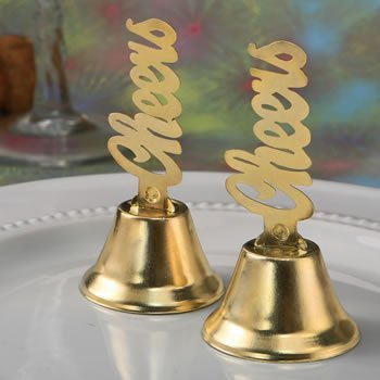 Cheers Design Golden Kissing Bells image