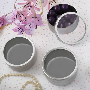Matte Silver Mint Tin Containers image
