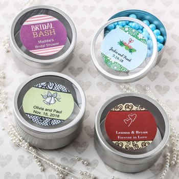 Personalized Expressions Collection Silver Mint Tin Favors image