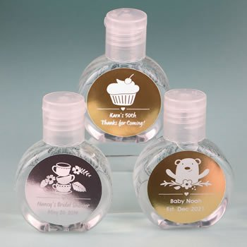 Personalized Metallics Hand Sanitizer Party Favor image