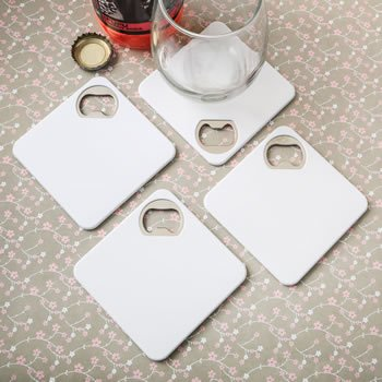 Perfectly Plain Bottle Opener Coaster image