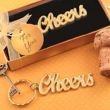 Cheers Themed Golden Keychain Favor image