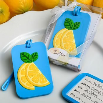 Citrus Themed Tropical Summer Luggage Tag Favor image