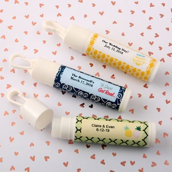 Personalized Expressions Wedding Lip Balm with Clip image