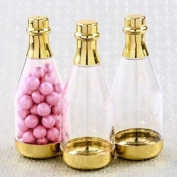 Perfectly Plain Gold Accented Champagne Bottle Container image