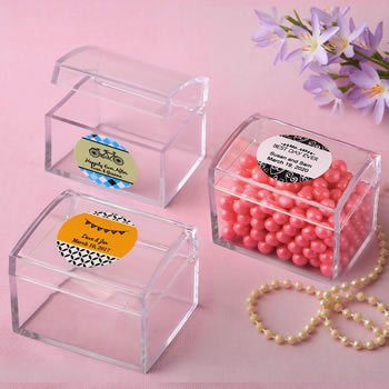 Personalized Expressions Acrylic Treasure Chest Favor image