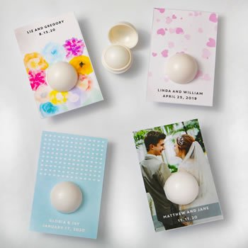 Personalized Wedding Design Vanilla Lip Balm Favors image