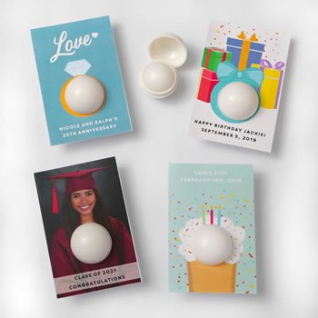 Personalized Occasions Vanilla Lip Balm Favors image
