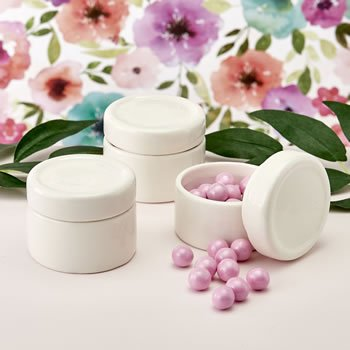 Perfectly plain collection Ceramic trinket jar with Epoxy do image