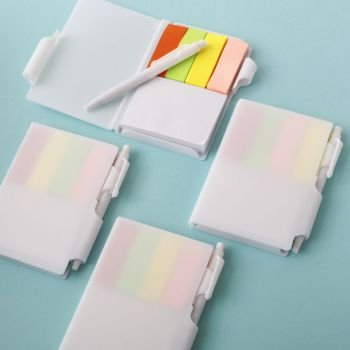 Perfectly plain collection white Note Book with pen and colo image