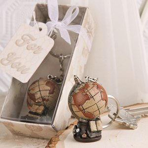 Vintage Collection Globe Keychain Travel Party Favors image