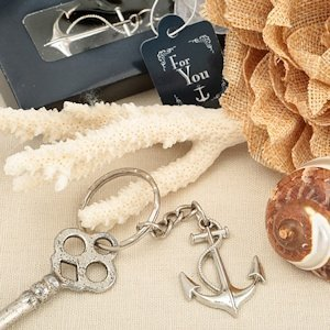 Nautical Themed Anchor Key Chain Favors image