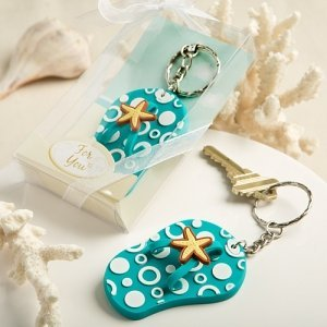 Beach Theme Flip Flop Key Chain Party Favors image