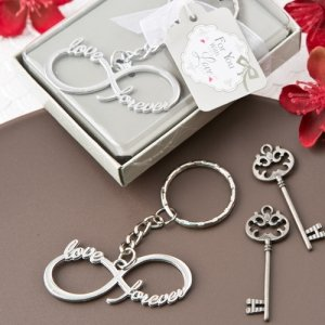 Infinity Design Key Chain Wedding Favors image