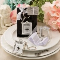 Holy Bible Silver Key Chain Favor