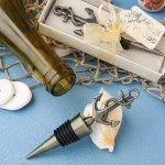 Stylish Brass Anchor Design Metal Bottle Stopper Favors