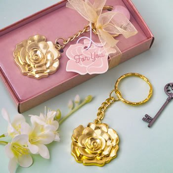 Gold Rose Key Chain Favor image