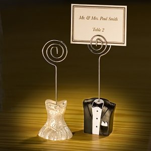 Tux & Gown Wedding Place Card Holders image