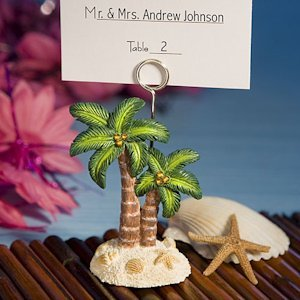 Palm Tree Design Place Card Holders image