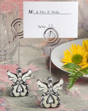 Divine Angel Place Card Holder with Enamel Inlay image